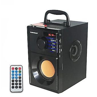 VAENSONG A10 Stereo drevený subwoofer Super Bass FM rádio bluetooth reproduktor