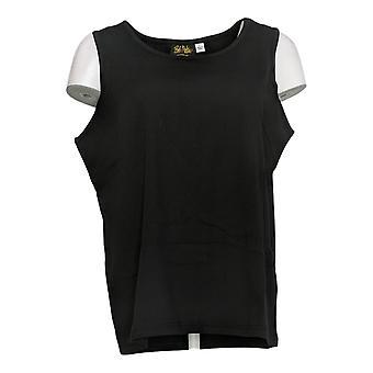 Bob Mackie Women's Top Essentials Sleeveless Scoop Neck Knit Black A345154