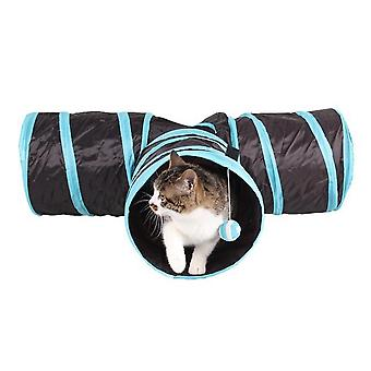 Indoor cat tunnel 3 way pet play tunnel collapsible tunnel