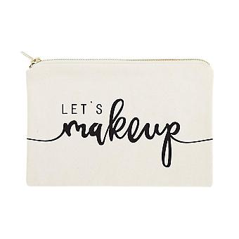 Let's Maquillage- Cotton Canvas Cosmetic Bag