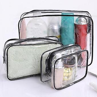 Travel Transparent Cosmetic Pvc Women Zipper Clear Makeup Bag