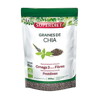 Organic Chia Seeds 200 g of powder