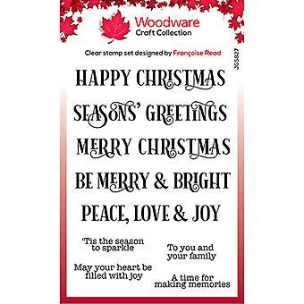 Woodware Clear Singles Christmas Sparkle 4 en x 6 en timbre