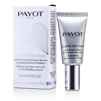 Payot absolut reinen weißen Clarte Des Yeux Aufhellung Eye Contour AUGENCREME 15ml / 0,5 oz