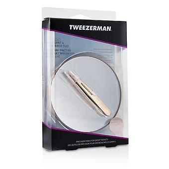Tweezerman Rose Oro Slant Mini pinzette e 10 X specchio