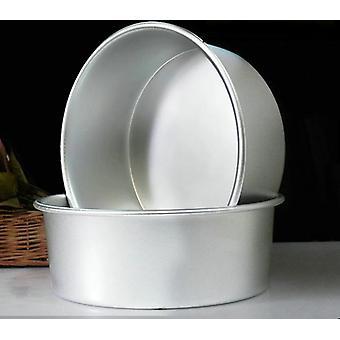 Round Aluminum Alloy Die Christmas Cake Mold Tool Baking Pan Pattern Bakeware