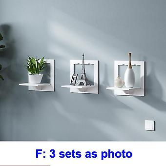 Wall Shelf Free Punching Wall-mounted Background Wall Hanger