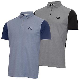 Calvin Klein Mens 2021 Hagen Pique Leggera Wicking Golf Polo Shirt