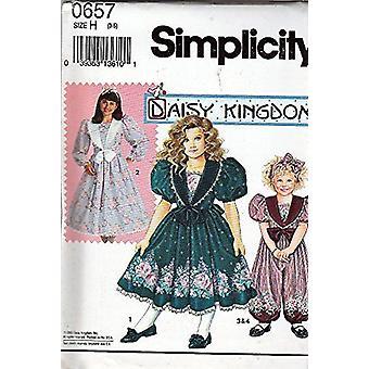 Yksinkertaisuus Ompelu kuvio 0657 Tytöt Mekko Daisy Kingdom Koko H (3,4,5)