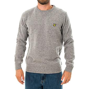 Pull homme lyle & scott crew neck lambswool blend jumper kn921vf.t28