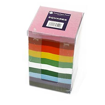 Bumper Tissue Paper Squares Tower - 4600 100mm Sheets in 10 Colours