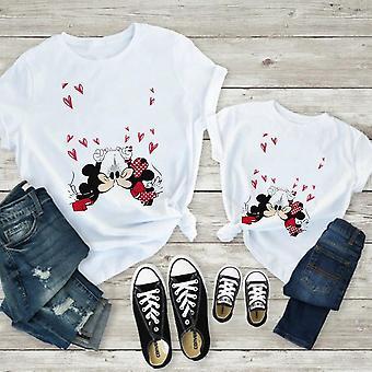 Naisten T-paita, Tulosta T-paita, Valkoinen Lyhythihaiset Vauvan puserot