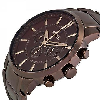 Fossil Analog Men with metal plated stainless steel FS4357