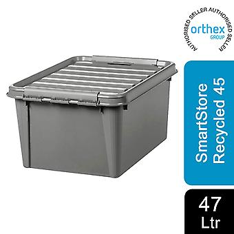 Orthex SmartStore Plastic All Purpose Storage Grey Box, Gerecycled 45 - 47L