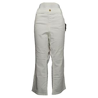 IMAN Global Chic Women's Jeans 22W Petites Illusion Denim White 734928100