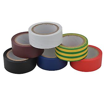 Unibond Electrical Tape (6 Colour Pack) 19mm x 3.5m UNI1415390