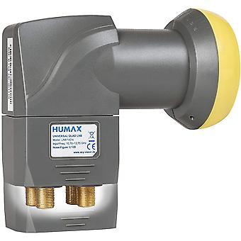 LNB 143s Gold Quad Switch LNB (0,1dB, 4 Teilnehmerausgänge, 40mm Feed, HDTV) mit eingebautem