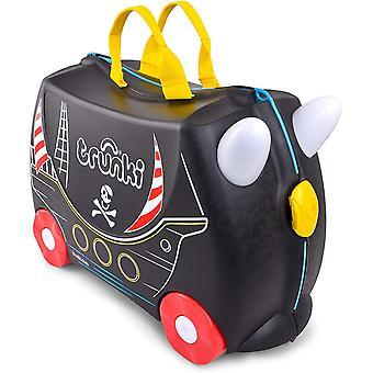 Gerui Trunki Children&s Ride-On Suitcase Hand Luggage: Pedro the Pirate Ship (Black)