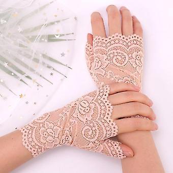 Spring And Summer Women's Sunscreen Short Gloves