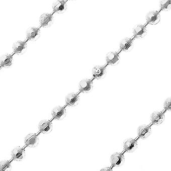 Final Sale - Silver Plated Faceted Ball Chain, 1.2mm, by Nunn Design, by the Foot