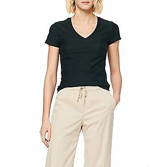 Scotch & Soda Basic Short Sleeve Tee T-Shirt, Green (Midnight Forest 3563), X-Small Woman