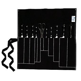 Farringdon, case for 11 knives, rollable, black