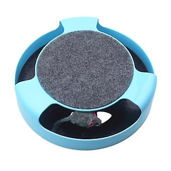 Cat Toy Cat Catches Mouse Cat Catches Board Cat Turntable Cat Catches Mouse Supplies|Cat Toys(blue)