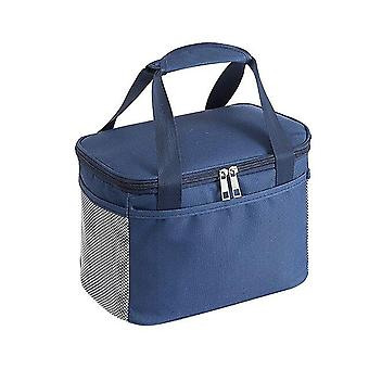 1pc Reusable Thermal Insulated Cooler Bag Picnic Food Storage Bags Office School Lunch Bags(blue)