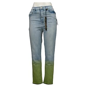 DG2 by Diane Gilman Women's Jeans Stretch Dip Dye Crop Blue 743663