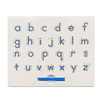 Numéro d'alphabet minuscule alphabet boule d'acier plastique planche à dessin magnétique jouet pour enfants az12368
