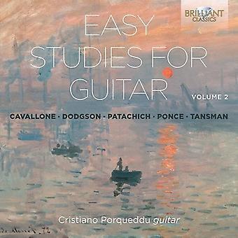 Cristiano Porqueddu - Easy Studies for Guitar Vol 2 [CD] USA import