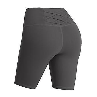 Frauen High Waist Seamless Hip-up Elastic Sport Shorts