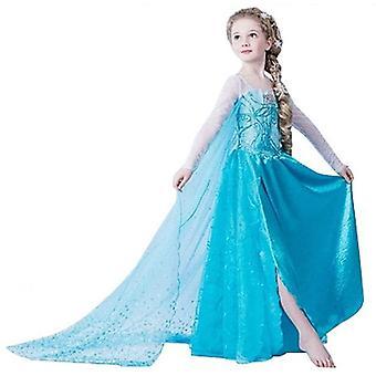 Mädchen Prinzessin Kleid Verrücktes Kleid Partei Kostüm Outfit DE*FBA-Dress (5-6 Jahre, DRESS-202)