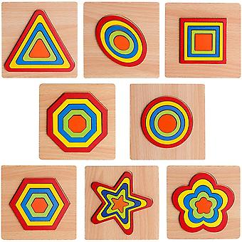Toddler Puzzles Games Wooden Toys, Montessori Shape, Gift For Kids