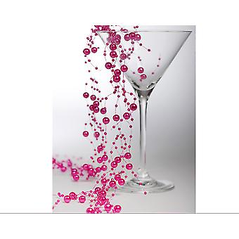 Guirlande de perle rose Fuchsia 2m pour l'artisanat & art floral