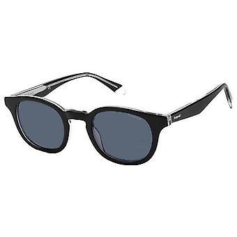 Polaroid Classic Runde Sonnenbrille - Schwarz/Kristall