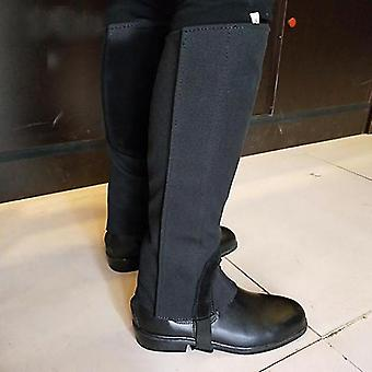 Riding pants canvas/leather horse riding equestrian leg protection gear