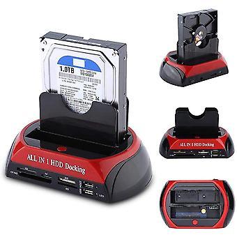 Harddisk Docking Station TCC-S862-US USB 2,0 til 2,5 3,5 tommer SATA IDE Dual Slots Ekstern