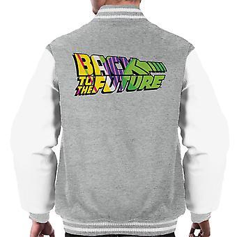 Back To The Future Striped Colourful Logo Men's Varsity Jacket