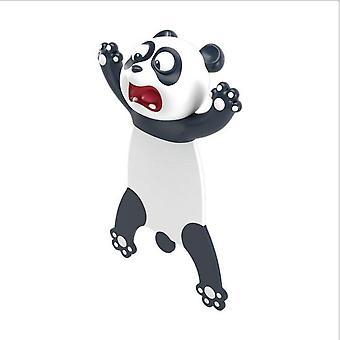 1 PC Original Cute Panda And Shiba Inu PVC Material Funny Bookmarks 3D Stereo Cartoon Bookmark