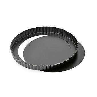 Quiche Pan Flan Tin   28 Cm 11-inch Non Stick Loose Base Quiche Tin/ Tart Pan For Cakes   Removable
