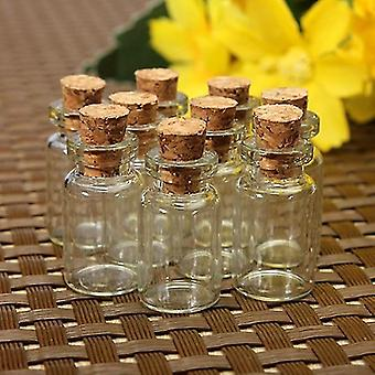 Mini Glass Bottles With Clear Cork Stopper - Tiny Vials Jars Containers