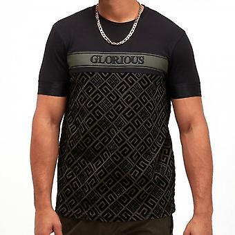 Glorious Gangsta Axel Black/Khaki Stretch T-shirt