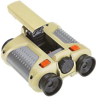 4x30 Children's Binoculars, High Magnification Children's Binoculars Waterproof Lightweight Telescope Night Vision Device,(silver)