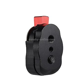 Tripod collars mounts mini quick release plate for lcd monitor magic arm led light camera camcorder rig black