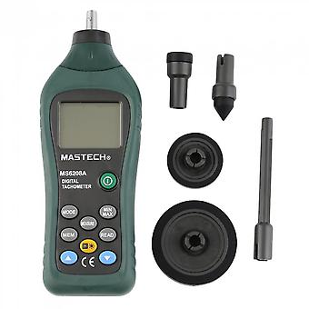 Ms6208a Contact Digital Tachometer Rpm Meter Rotation Speed 50-19999rpm