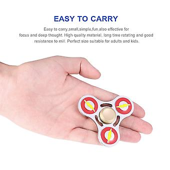 Tri-spinner Hand Finger Spinner Toy Metal Fingertip Toys For Autism And Adhd