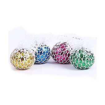 4pcs Net Cloth Grape Balls Squishy Ball Legetøj Stress Reliever