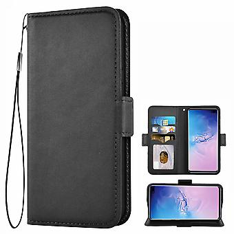 Leather Phone Case,with Magnetic Closure, Stand Function And Card Slot,compatible With Samsung S10 Plus Smartphone
