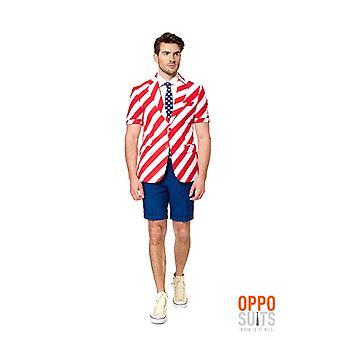 TAILLES de stripes USA été costume slimline 3 pièces UE Opposuit Summersuit United